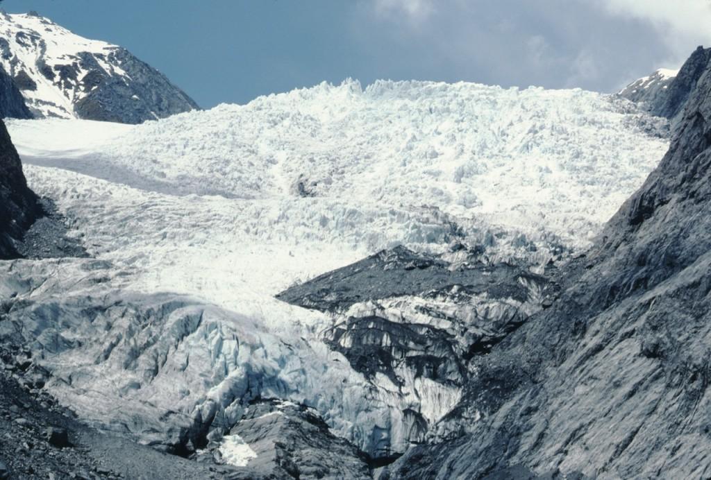 Franz Josef-glaciären, Nya Zeeland, oktober 1981
