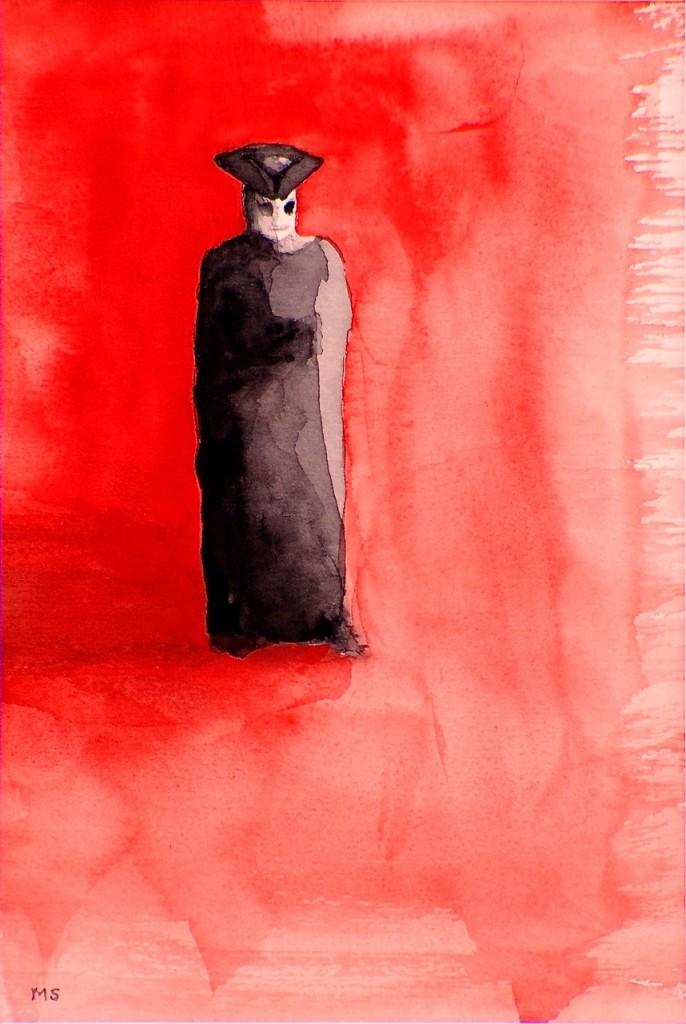 Venetianskt rött; akvarell