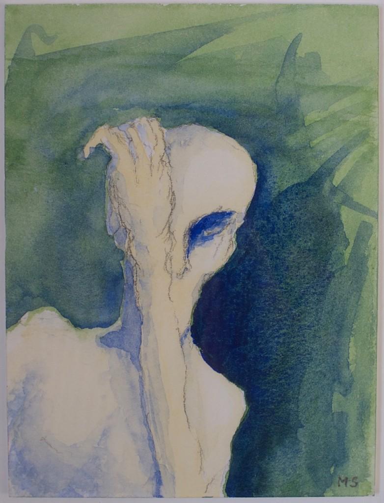 Anonym; akvarell